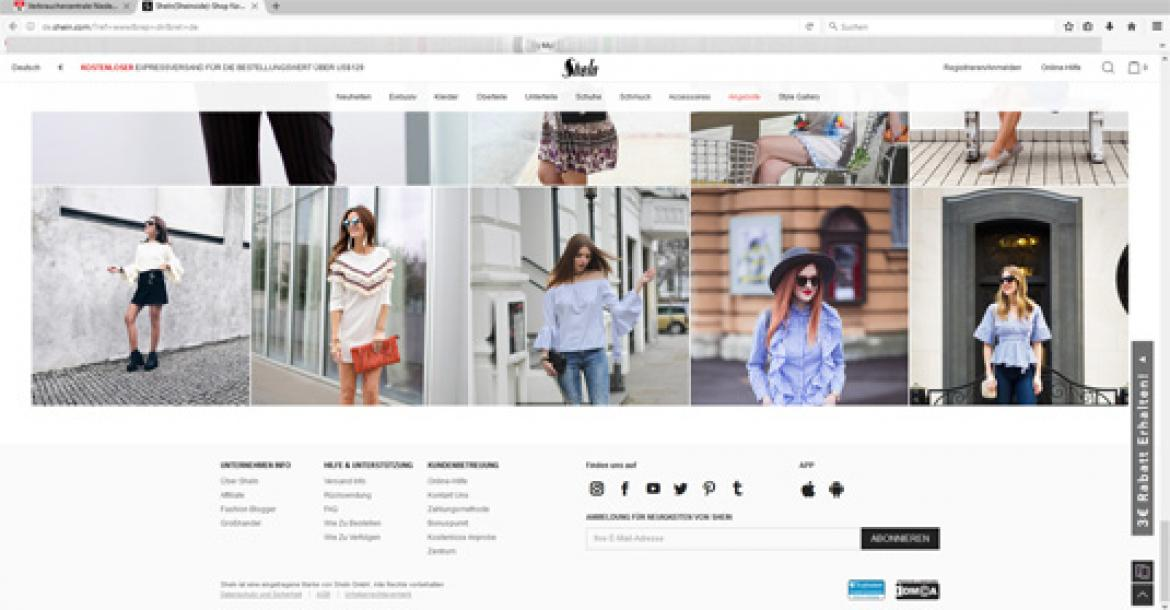 Image result for screenshots of shein